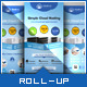 Cloud Hosting Service - Roll-up Banner Template - GraphicRiver Item for Sale