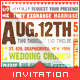 Wedding Invitation Typography - GraphicRiver Item for Sale