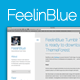 FeelinBlue - Clean Tumblr Blogging Theme Nulled