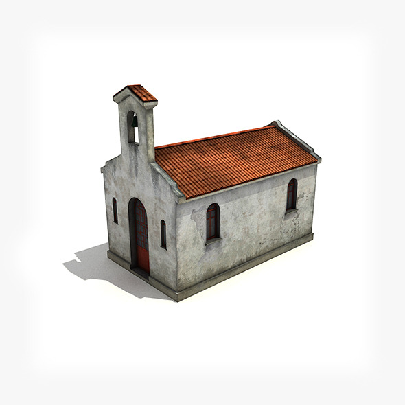 Small Church Building - 3DOcean Item for Sale