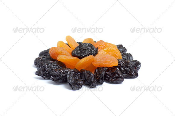 Pattern of dried apricot and  prunes. - Stock Photo - Images