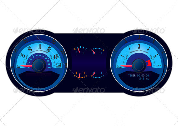 Racing Car Speedometer - Man-made Objects Objects