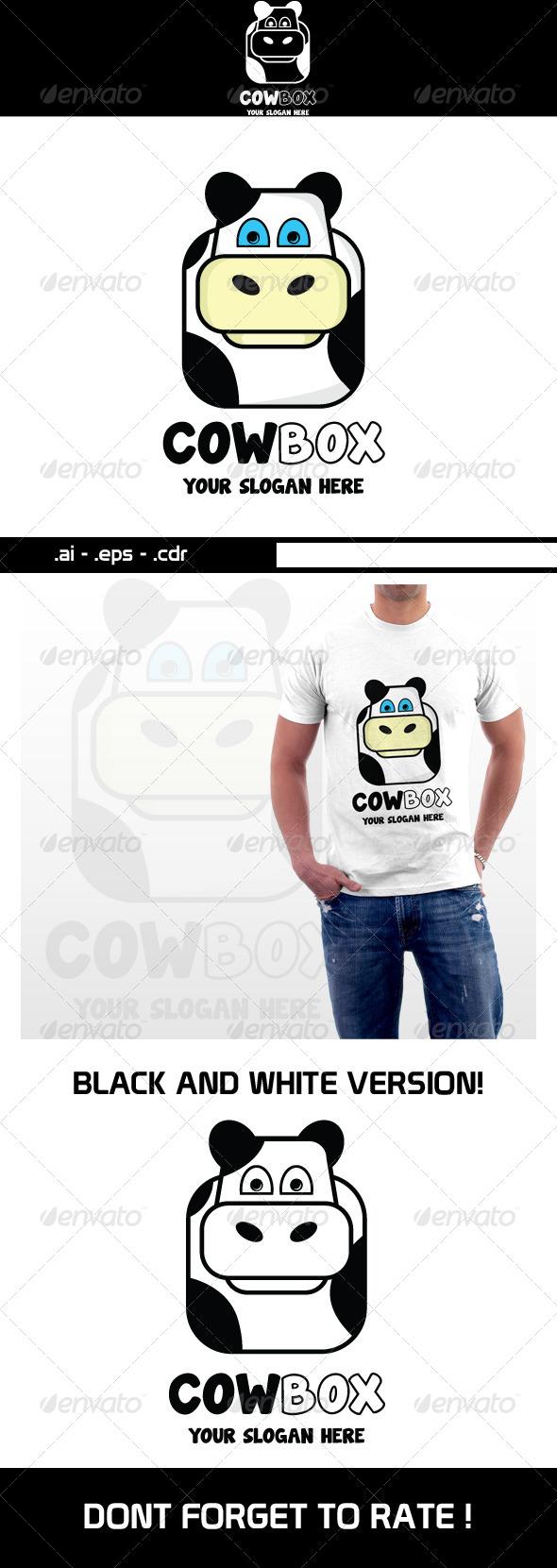 Cow Box Logo  - Animals Logo Templates