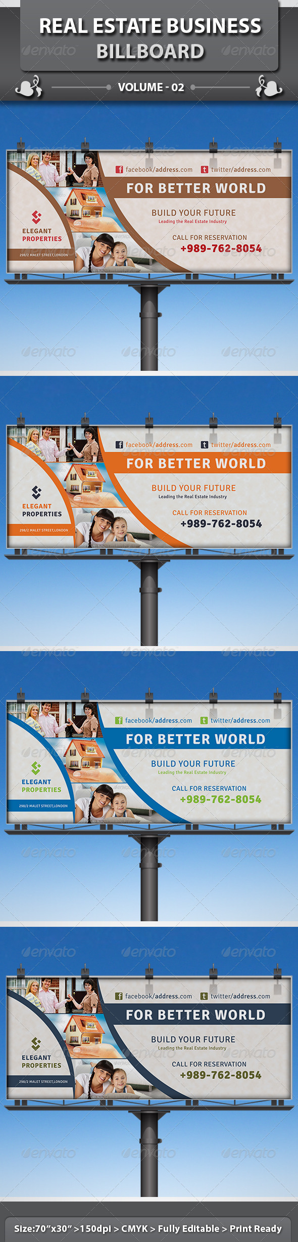 Real Estate Business Billboard | Volume 5 - Signage Print Templates