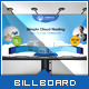 Cloud Hosting Service - Billboard Template - GraphicRiver Item for Sale