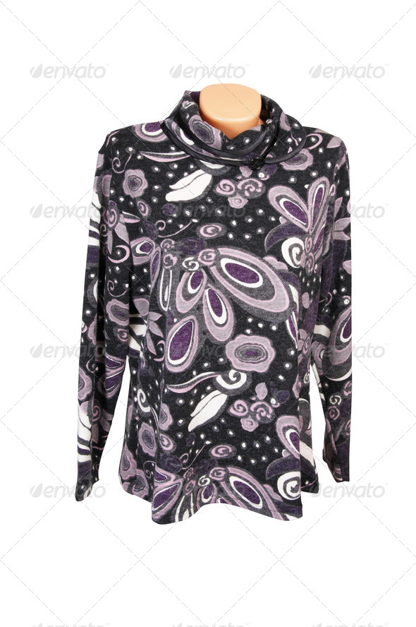 Fashionable purple jacket on a white. - Stock Photo - Images