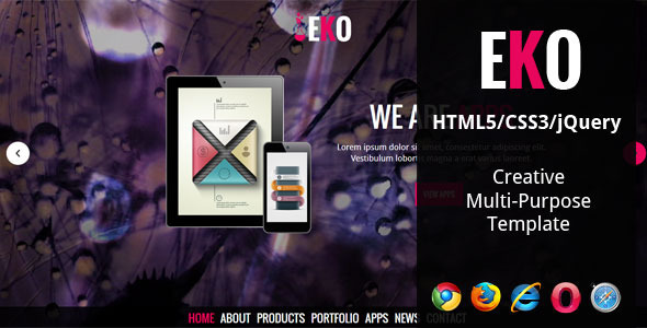 EKO - Creative Multi-Purpose HTML5 Template - Creative Site Templates