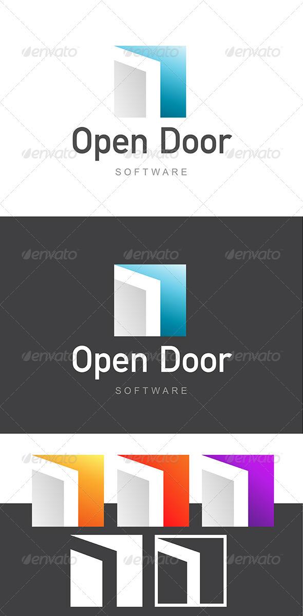 Open Door Software Development / Architecture Logo - Buildings Logo Templates  sc 1 st  GraphicRiver & Open Door Software Development / Architecture Logo by stehan ...
