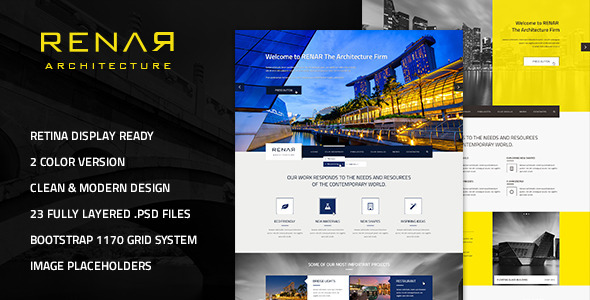 Renar – Premium Architect PSD Template