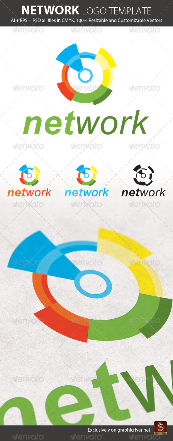 Network Logo Template - Abstract Logo Templates