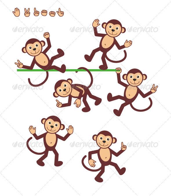 Cartoon Characters - Monkeys - Animals Characters