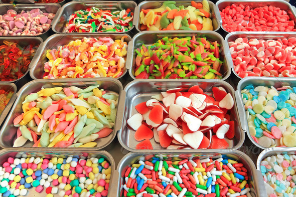 sweets and candies - Stock Photo - Images