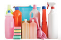 plastic detergent bottles and bucket - PhotoDune Item for Sale
