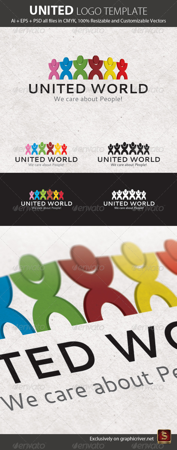 United Logo Template - Humans Logo Templates