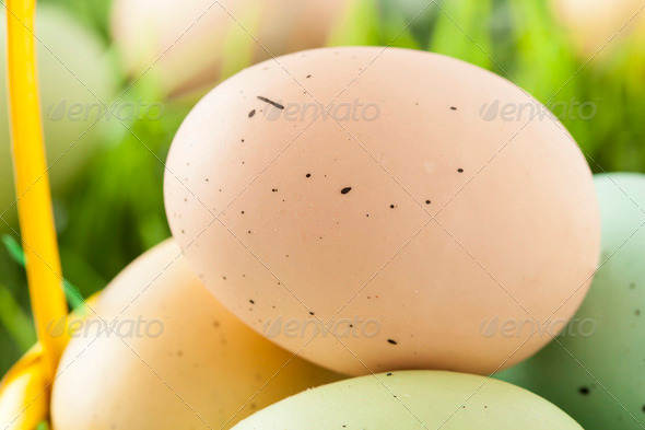 Colored Dyed Easter Eggs - Stock Photo - Images