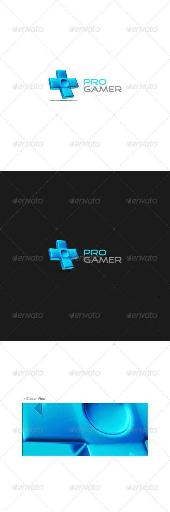 Pro Gamer Logo Template - Objects Logo Templates