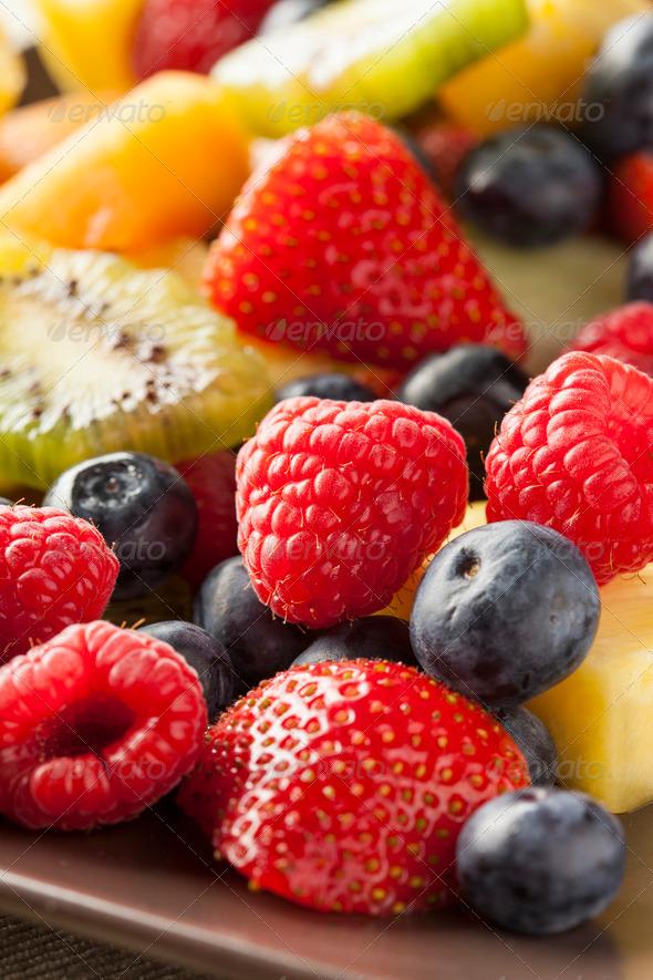 Fresh Organic Fruit Salad - Stock Photo - Images