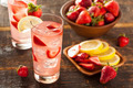 Refreshing Ice Cold Strawberry Lemonade - PhotoDune Item for Sale