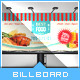 Retro Taste Food/Restaurant Billboard - GraphicRiver Item for Sale