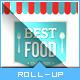 Retro Taste Food/Restaurant Roll-up Banner - GraphicRiver Item for Sale