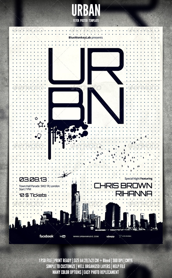 Urban Flyer / Poster - Events Flyers