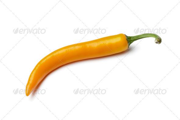 Orange chili pepper - Stock Photo - Images