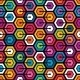 Colorful Geometric Pattern with Hexagons - GraphicRiver Item for Sale