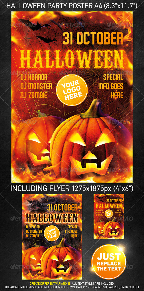 Halloween Party Template - Clubs & Parties Events