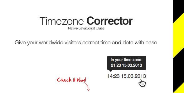 TimeZone Corrector - CodeCanyon Item for Sale