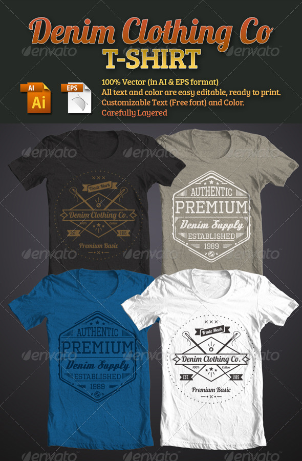 Denim Clothing Co T-Shirt - Designs T-Shirts