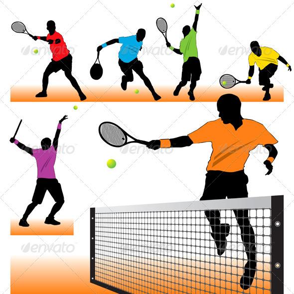 Tennis Silhouettes Set - Sports/Activity Conceptual