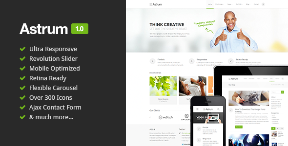 Astrum - Responsive Multi-Purpose HTML5 Template