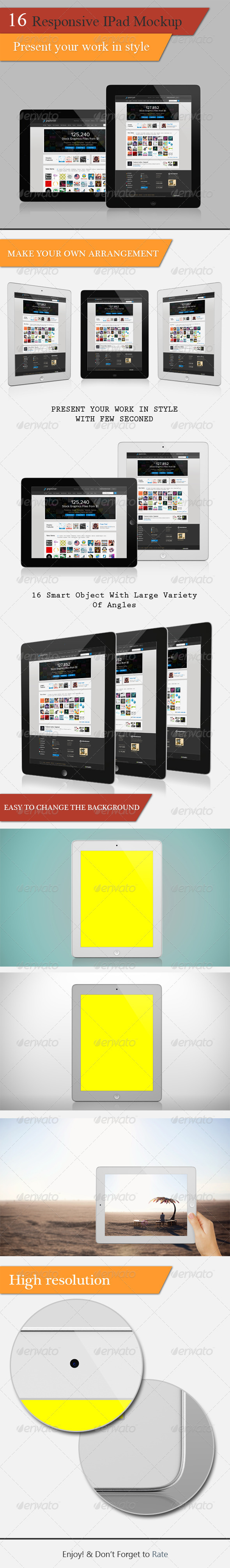 Responsive Tablet Mockup  - Multiple Displays