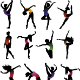 Set Dance Girl Ballet Silhouettes Vector - GraphicRiver Item for Sale