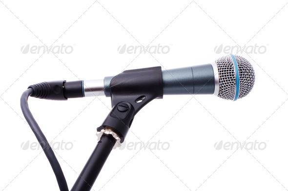 microphone isolated - Stock Photo - Images