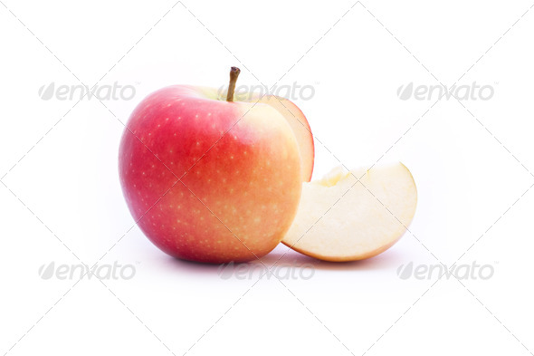 sliced apple - Stock Photo - Images