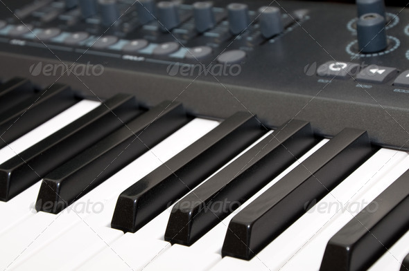black & white piano keys - Stock Photo - Images