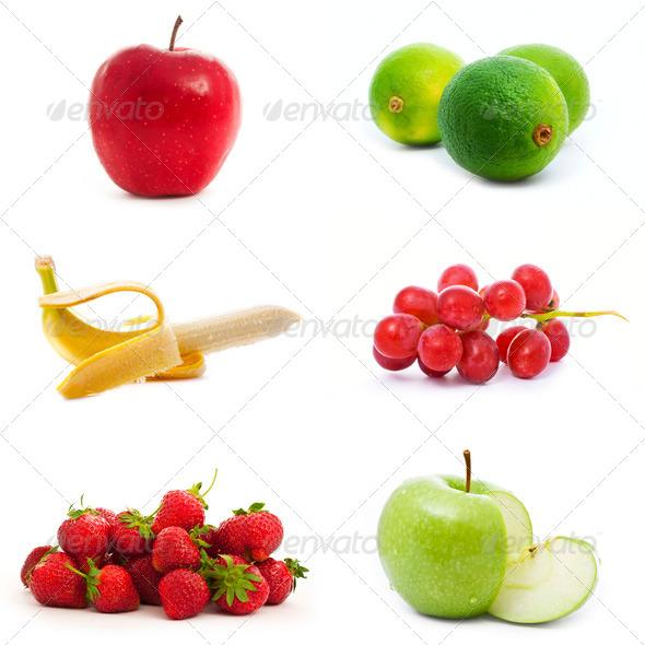 set of fruits - Stock Photo - Images
