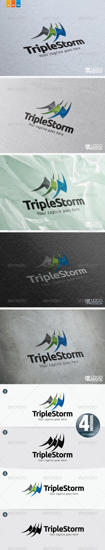 Triple Storm - Objects Logo Templates