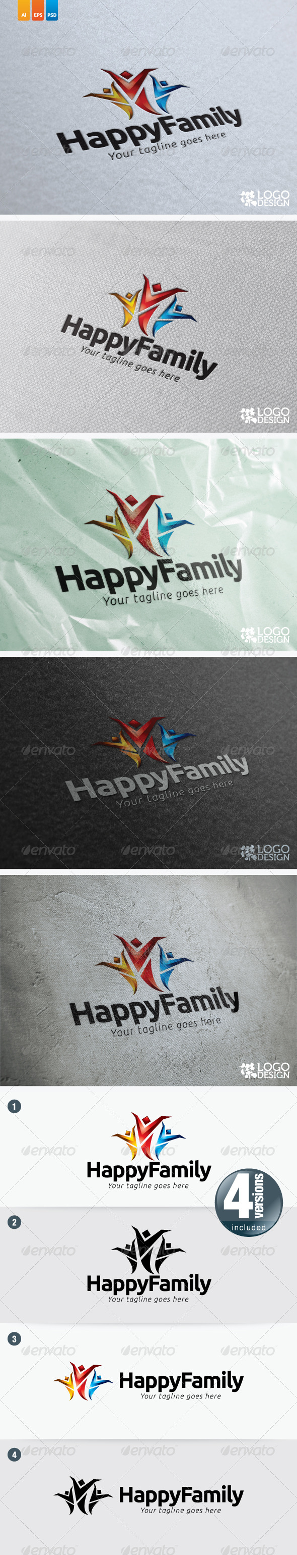 Happy Family - Humans Logo Templates