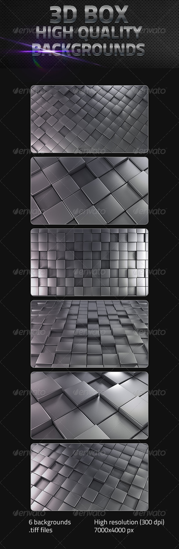 3D Cube Backgrounds in High Resolution - 3D Backgrounds