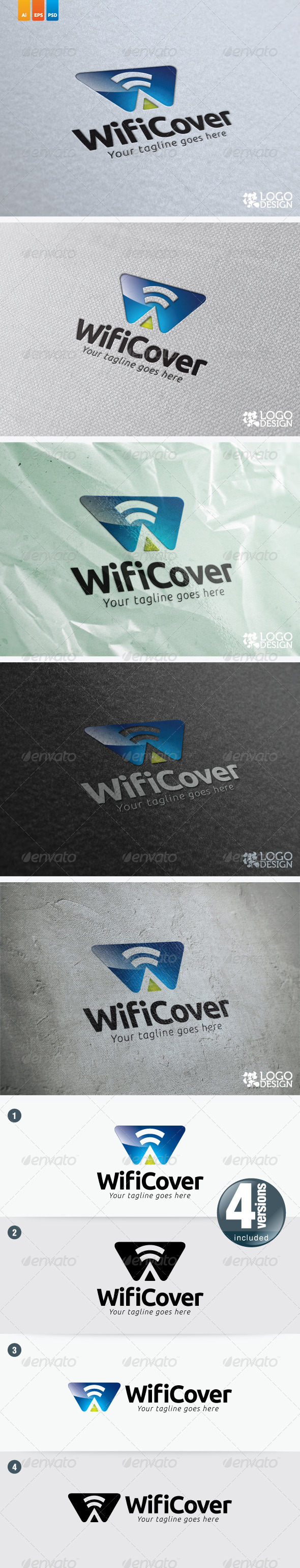 Wifi Cover - Letters Logo Templates