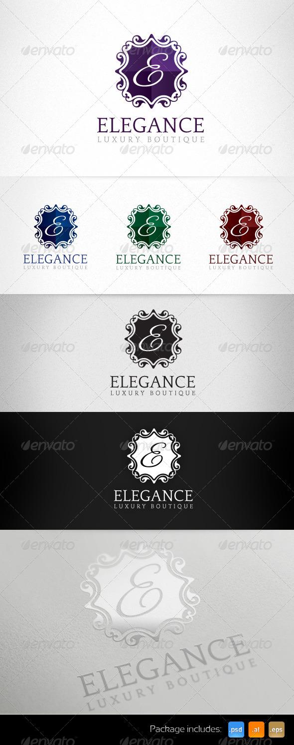 Elegance Luxury Boutique Exclusive Logo - Letters Logo Templates