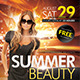 Summer Beauty Flyer Template - GraphicRiver Item for Sale