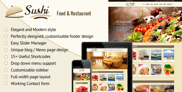 Sushi – Food & Restaurant Shopify Theme