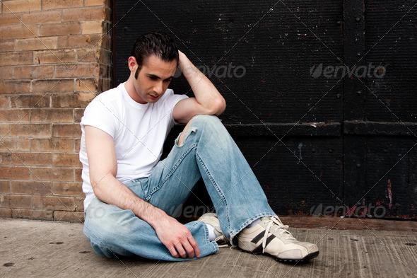 Depressed man - Stock Photo - Images