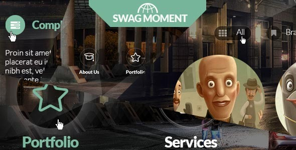 SwagMoment - Parallax , one-page, CSS3, HTML5