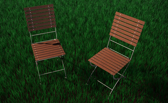 High Detailed Garden Chair - 3DOcean Item for Sale