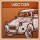 Hand Drawn Retro Car 2CV - GraphicRiver Item for Sale