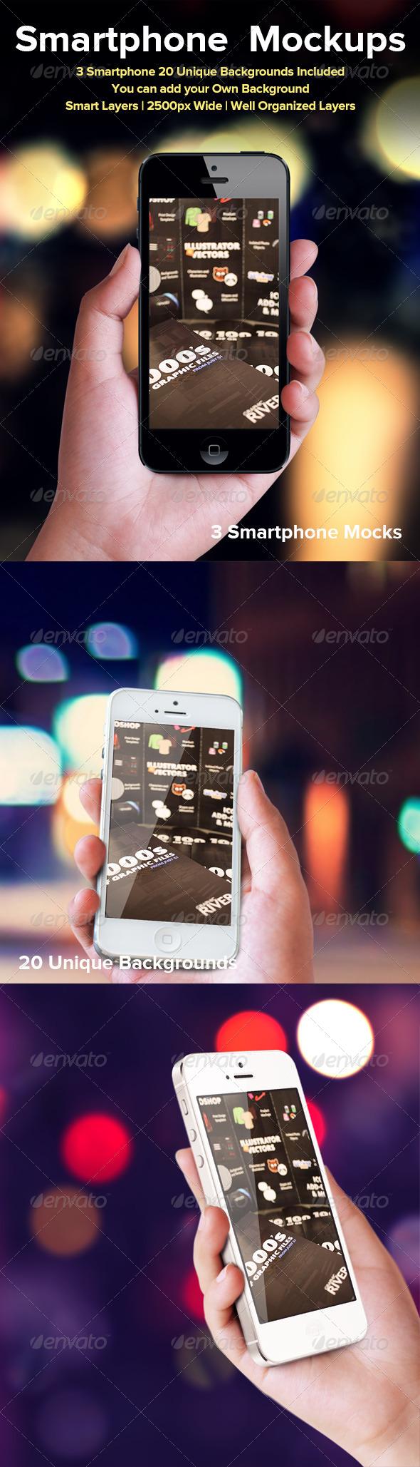 Smartphone Mockup - Mobile Displays